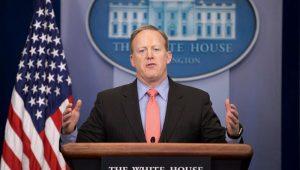 Secretário de imprensa da Casa Branca, Sean Spicer, renuncia ao cargo