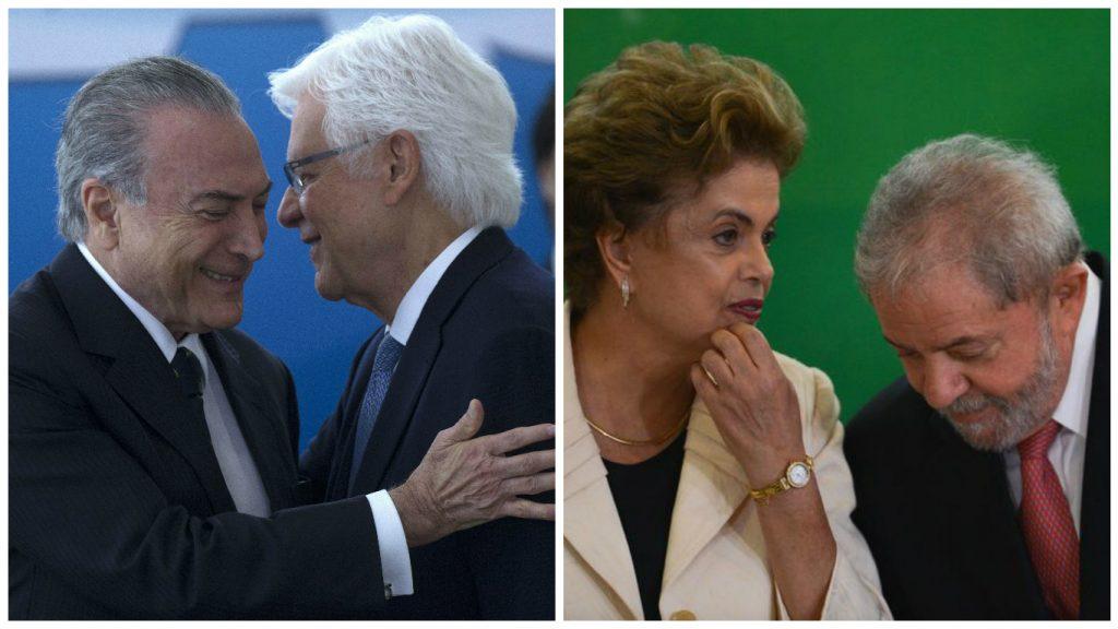 Resultado de imagem para Temer, Moreira, Lula,Dilma