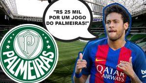 Neymar paga FORTUNA para ver jogo do Palmeiras