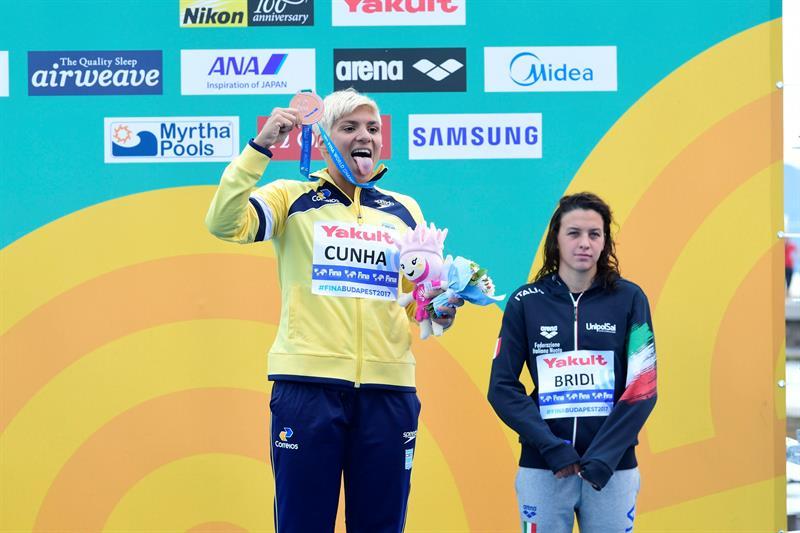 Ana Marcela Cunha conquistou a oitava medalha em campeonatos mundiais