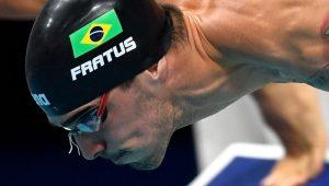 Fratus lidera eliminatórias e vai à semifinal dos 50m livre; Cielo avança como 9º