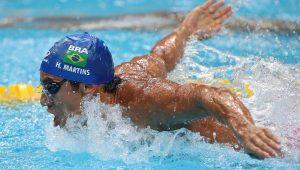 Henrique Martins é 11º nas semis e fica fora da final dos 100m borboleta