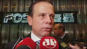 Prefeito João Doria afirma que Praça Roosevelt vai ser revitalizada