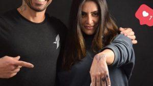 Cleo Pires cobre tatuagem feita com ex-namorado Rômulo Neto