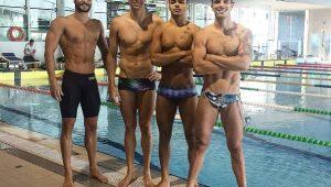 Brasil brilha no 4x100m livre e avança à final do Mundial com o melhor tempo