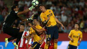 Com um a menos, Atlético de Madrid reage e empata com o Girona no Espanhol