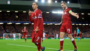 Com gol de Firmino, Liverpool faz 4 no Hoffenheim e volta à fase de grupo da Liga