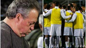 Abelão ganha linda homenagem do Santos e se emociona