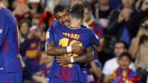 Messi e Paulinho comandam goleada e estampam capa de jornais na Espanha
