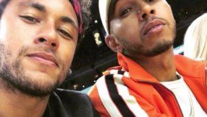 """De encontro """"montado"""" a declarações de amizade: como Hamilton virou """"parça"""" de Neymar"""
