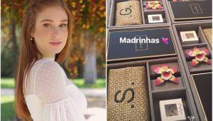 Marina Ruy Barbosa mostra presentes das madrinhas de casamento