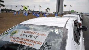 Taxistas apoiam o PLC 28/17 que regulamenta a prestação de serviços dos aplicativos de carona