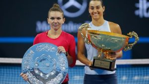 Simona Halep não foi páreo para Caroline Garcia na final do Torneio de Pequim