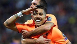 Roberto Firmino fez dois gols na goleada Liverpool 7 a 0 Maribor