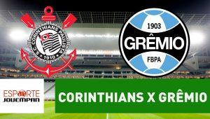 Acompanhe ao vivo a narração de Corinthians x Grêmio