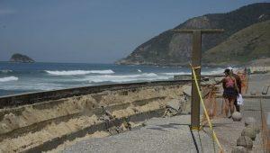 No Rio, contenção de calçadão da Praia da Macumba custará R$ 14,5 milhões
