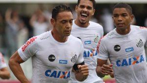 Ricardo Oliveira garantiu a vitória do Santos 1 a 0 Atlético-GO, na Vila Belmiro