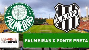 Acompanhe ao vivo a narração de Palmeiras x Ponte Preta