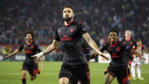Futebol Liga Europa Arsenal Giroud