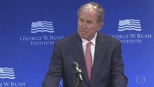 Em alfinetada indireta a Trump, Bush critica economia e a atuação política dos Estados Unidos