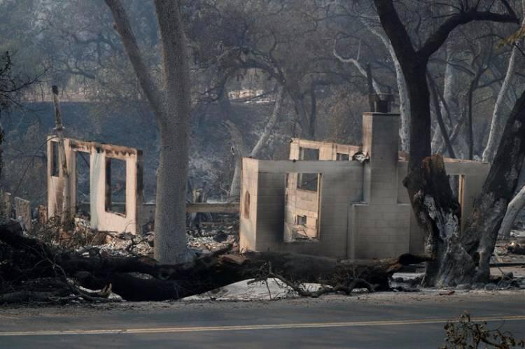 mundo, incêndio, califórnia