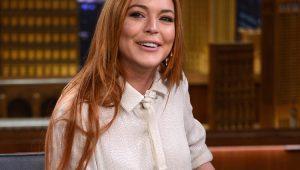 Lindsay Lohan no talk show do Jimmy Fallon
