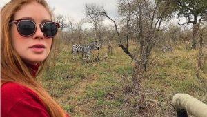 Marina Ruy Barbosa durante lua de mel na África do Sul