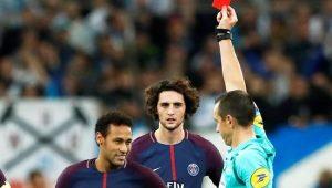 Neymar marca e é expulso, mas PSG consegue empate com o Olympique de Marselha