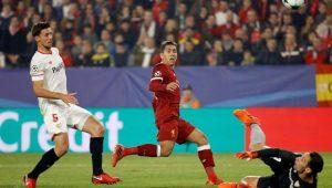 Com 2 de Firmino, Liverpool abre 3 a 0, mas cede empate ao Sevilla