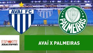 Avaí x Palmeiras: acompanhe o jogo ao vivo na Jovem Pan
