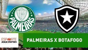 Palmeiras x Botafogo: acompanhe o jogo ao vivo na Jovem Pan