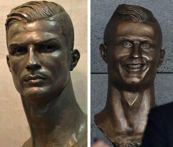 93182d7dcadd5 Aeroporto Cristiano Ronaldo Estatua : Melhorou cristiano ronaldo ganha nova  estátua mais fiel