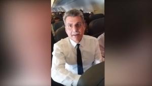 Vídeo mostra Romero Jucá discutindo com passageira em voo para São Paulo: tem alguém errado?