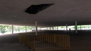 Parte de teto da marquise do Parque Ibirapuera cai; ninguém ficou ferido