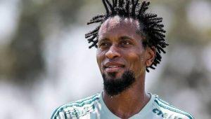 Zé Roberto treina no Palmeiras e deve ser titular em despedida da arena alviverde
