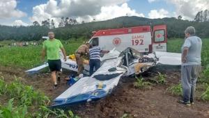 Queda de avião deixa uma pessoa morta e duas feridas no Sul de Minas