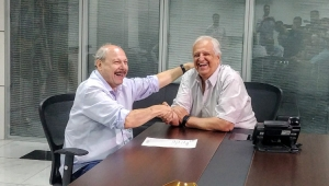 Em reunião, Modesto Roma promete colaboração com o novo presidente do Santos
