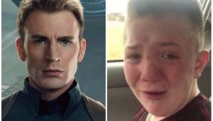 Chris Evans convida garoto vítima de bullying para première de Vingadores Guerra Infinita