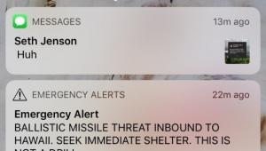 Alerta de Míssil falso havaí