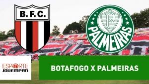 Botafogo-SP x Palmeiras: acompanhe o jogo ao vivo na Jovem Pan