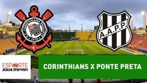 Corinthians x Ponte Preta: acompanhe o jogo ao vivo na Jovem Pan