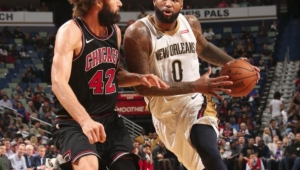 Com triple-double histórico de Cousins, Pelicans vencem Bulls na 2ª prorrogação