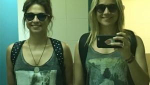 """Fernanda Gentil e Priscila Montandon posam com looks parecidos: """"brega, mas fofo"""""""