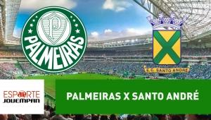 Palmeiras x Santo André: acompanhe o jogo ao vivo na Jovem Pan
