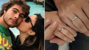 """Tatá Werneck mostra aliança de noivado com Rafa Vitti: """"te amo"""""""